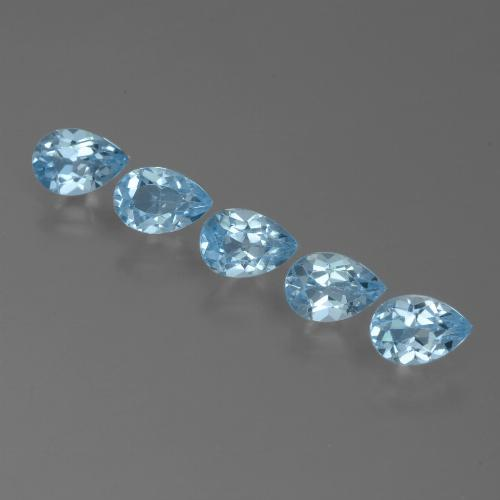 Sky Blue Topaz Gem - 0.5ct Pear Facet (ID: 455109)