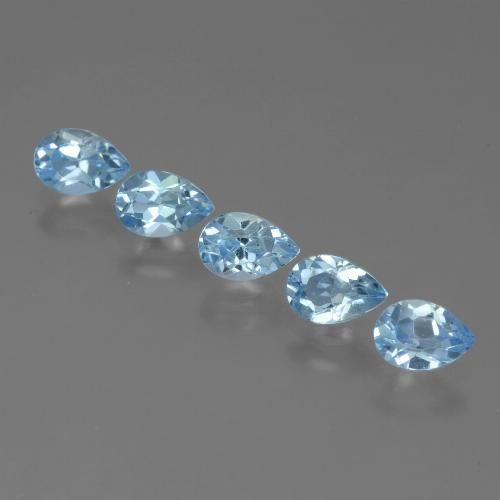 Sky Blue Topaz Gem - 0.5ct Pear Facet (ID: 455114)