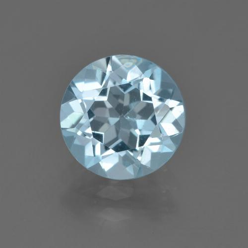 Sky Blue Topaz Gem - 2.3ct Round Facet (ID: 455120)