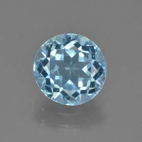 Sky Blue Topaz Gem - 2.2ct Round Facet (ID: 455126)