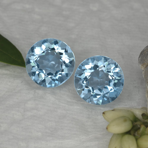 Sky Blue Topaz Gem - 2.3ct Round Facet (ID: 455152)