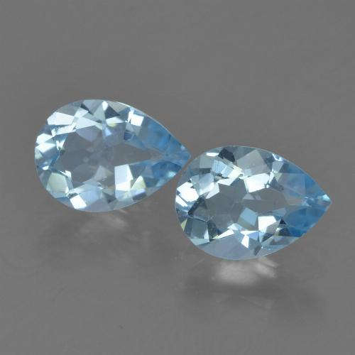 Sky Blue Topaz Gem - 0.8ct Pear Facet (ID: 455194)