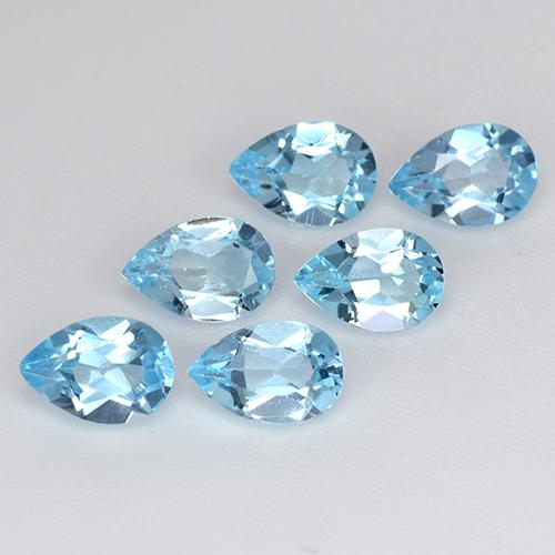 Sky Blue Topaz Gem - 0.5ct Pear Facet (ID: 455201)