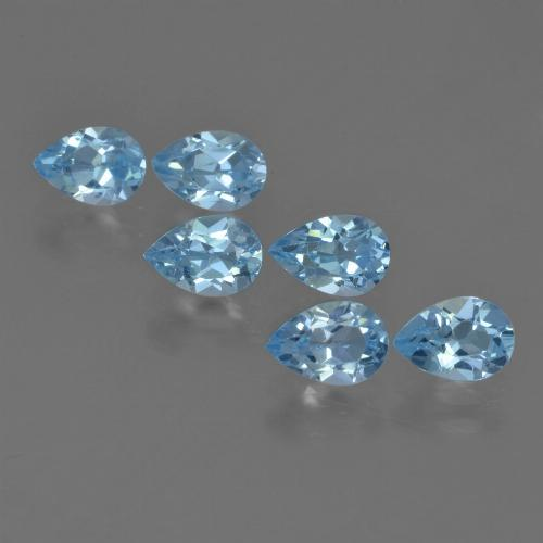Sky Blue Topaz Gem - 0.6ct Pear Facet (ID: 455202)