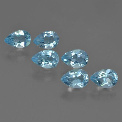Baby Blue Topaz Gem - 0.5ct Pear Facet (ID: 455205)