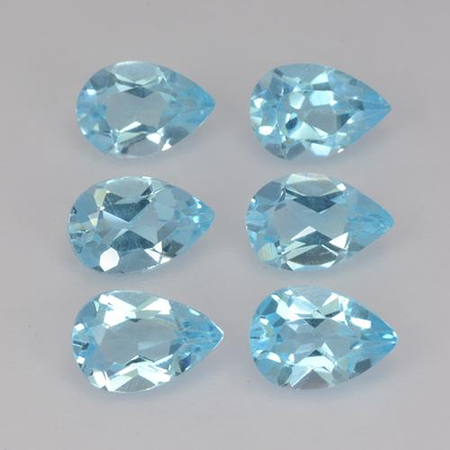 Sky Blue Topaz Gem - 0.5ct Pear Facet (ID: 455208)