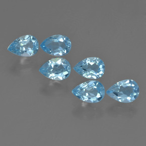 Sky Blue Topaz Gem - 0.6ct Pear Facet (ID: 455209)