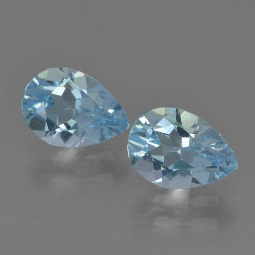 Sky Blue Topaz Gem - 0.8ct Pear Facet (ID: 455227)