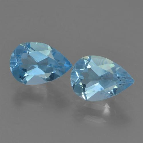 Deep Maya Blue Topaz Gem - 0.8ct Pear Facet (ID: 455230)