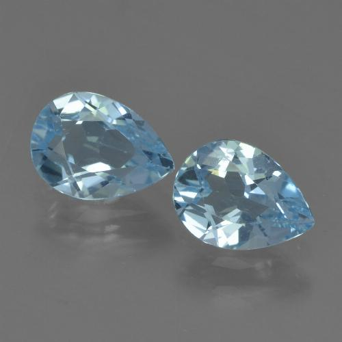 Sky Blue Topaz Gem - 0.8ct Pear Facet (ID: 455231)