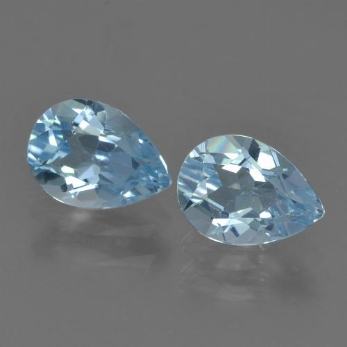 Sky Blue Topaz Gem - 0.9ct Pear Facet (ID: 455233)