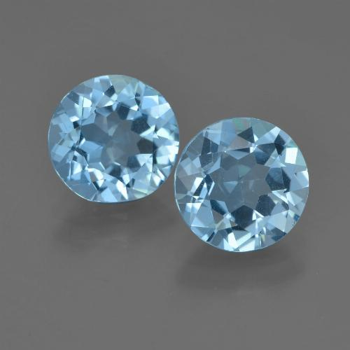 Sky Blue Topaz Gem - 2.2ct Round Facet (ID: 455249)