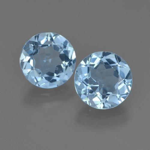 Sky Blue Topaz Gem - 2.2ct Round Facet (ID: 455255)