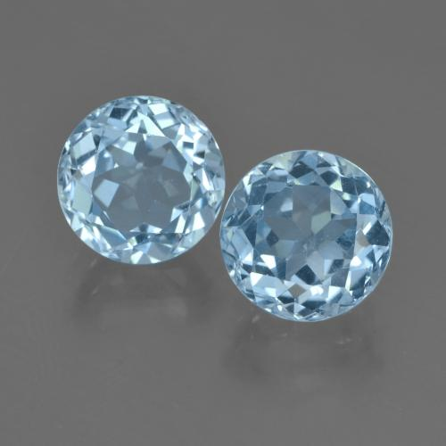 Sky Blue Topaz Gem - 2.6ct Round Facet (ID: 455258)