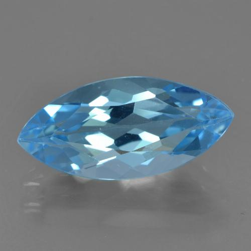 Sky Blue Topaz Gem - 4.1ct Marquise Facet (ID: 455271)