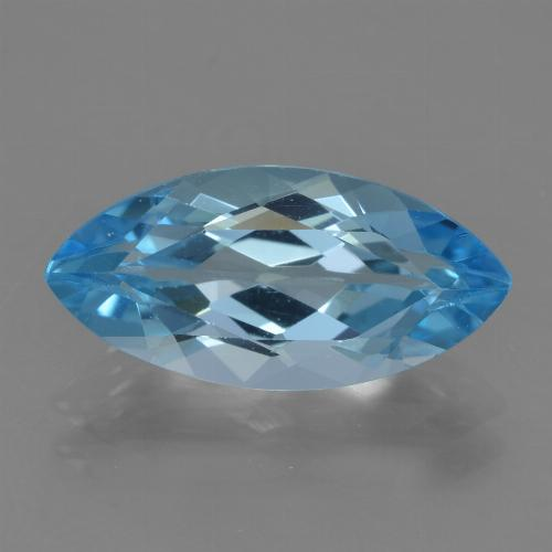Sky Blue Topaz Gem - 3.9ct Marquise Facet (ID: 455272)