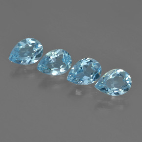 Sky Blue Topaz Gem - 0.8ct Pear Facet (ID: 455283)