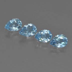 Sky Blue Topaz Gem - 0.7ct Pear Facet (ID: 455288)