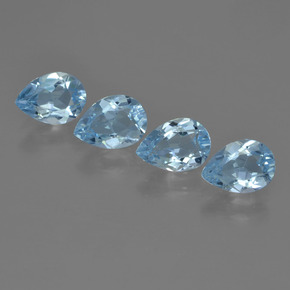 Sky Blue Topaz Gem - 0.8ct Pear Facet (ID: 455292)