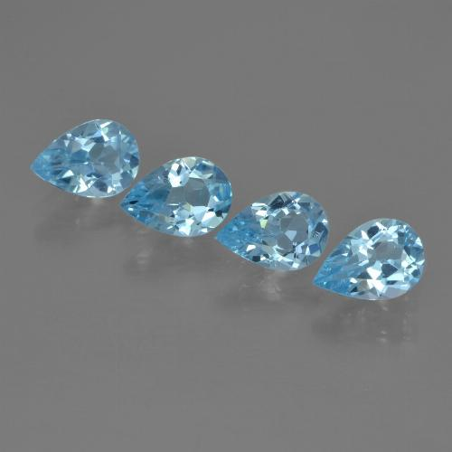 Sky Blue Topaz Gem - 0.7ct Pear Facet (ID: 455293)
