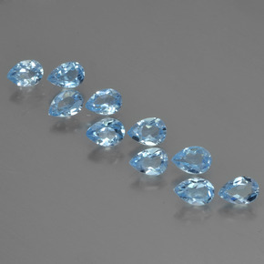 Sky Blue Topaz Gem - 0.6ct Pear Facet (ID: 455315)