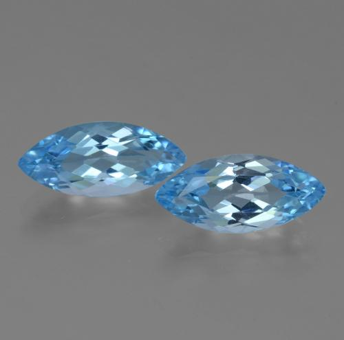 Sky Blue Topaz Gem - 3.4ct Marquise Facet (ID: 455319)