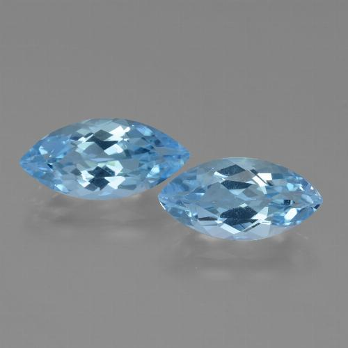 Light Blue Topaz Gem - 3.6ct Marquise Facet (ID: 455321)