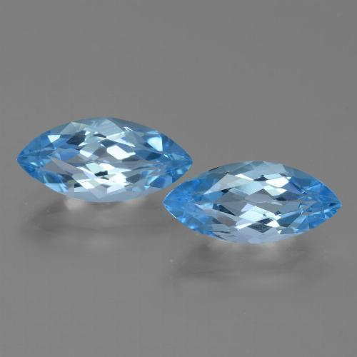 Sky Blue Topaz Gem - 3.8ct Marquise Facet (ID: 455323)