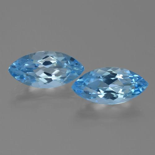 Deep Baby Blue Topaz Gem - 3.9ct Marquise Facet (ID: 455324)
