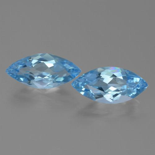 Sky Blue Topaz Gem - 3.5ct Marquise Facet (ID: 455326)