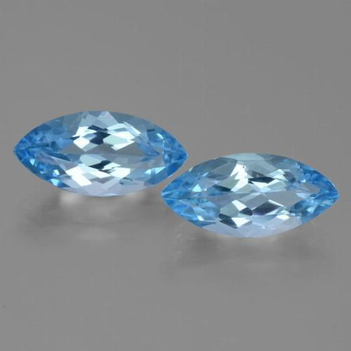 Sky Blue Topaz Gem - 4.1ct Marquise Facet (ID: 455328)