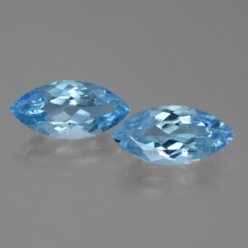 Sky Blue Topaz Gem - 3.7ct Marquise Facet (ID: 455330)