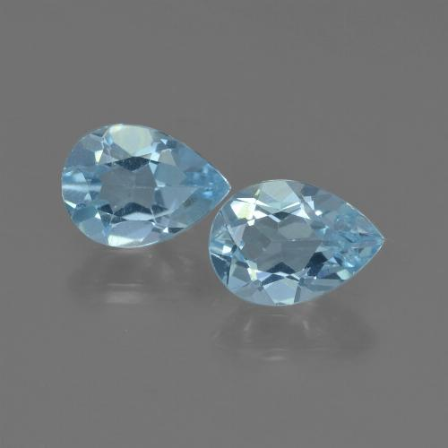 Sky Blue Topaz Gem - 0.8ct Pear Facet (ID: 455359)