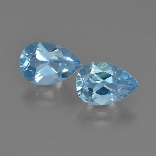 Sky Blue Topaz Gem - 0.9ct Pear Facet (ID: 455360)