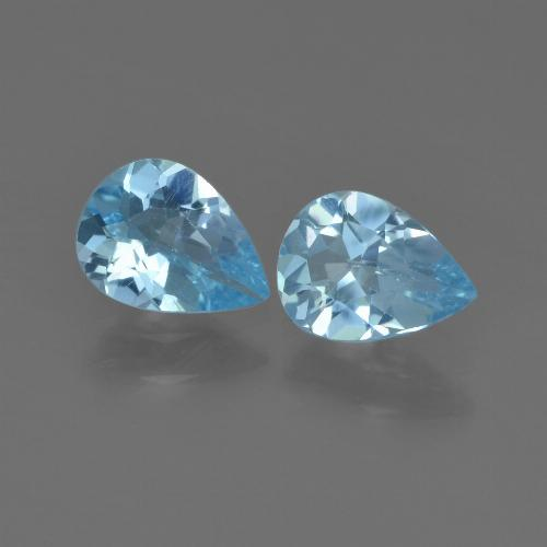 Sky Blue Topaz Gem - 0.7ct Pear Facet (ID: 455364)