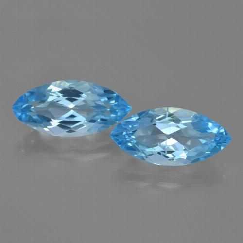 Sky Blue Topaz Gem - 3.7ct Marquise Facet (ID: 455392)