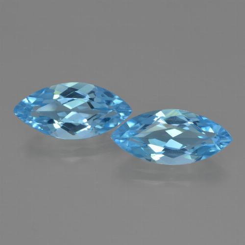 Sky Blue Topaz Gem - 3.5ct Marquise Facet (ID: 455397)