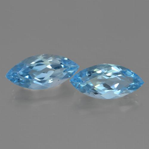 Sky Blue Topaz Gem - 3.7ct Marquise Facet (ID: 455400)