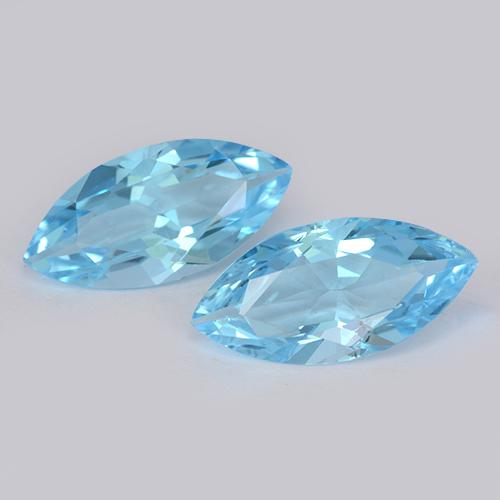 Swiss Blue Topaz Gem - 3.6ct Marquise Facet (ID: 455401)