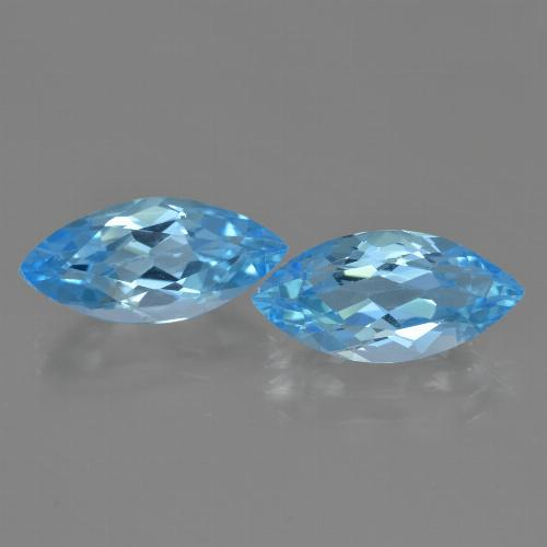 Sky Blue Topaz Gem - 3.9ct Marquise Facet (ID: 455402)