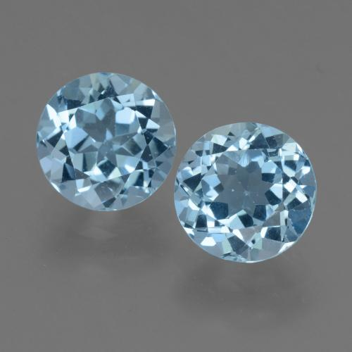 Sky Blue Topaz Gem - 2.3ct Round Facet (ID: 455404)