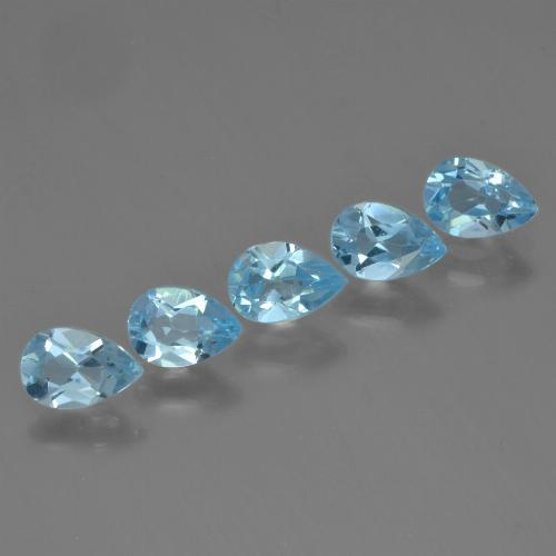 Sky Blue Topaz Gem - 0.5ct Pear Facet (ID: 455432)