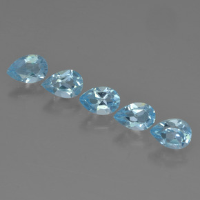 Sky Blue Topaz Gem - 0.6ct Pear Facet (ID: 455437)