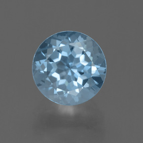 thumb image of 2.6ct Round Facet Sky Blue Topaz (ID: 455443)