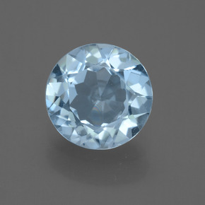 Sky Blue Topaz Gem - 2.1ct Round Facet (ID: 455445)