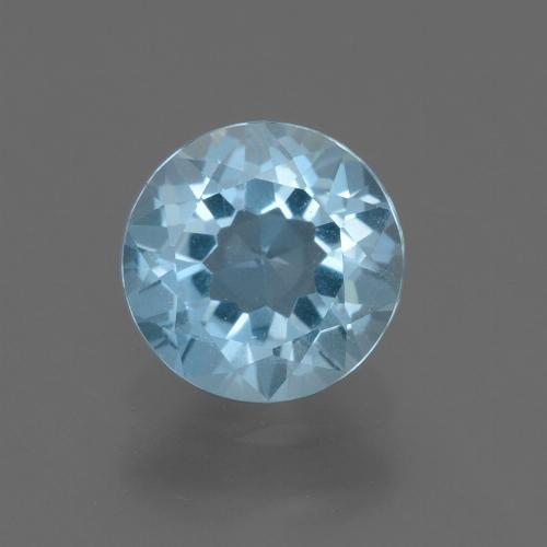 Sky Blue Topaz Gem - 2.2ct Round Facet (ID: 455448)