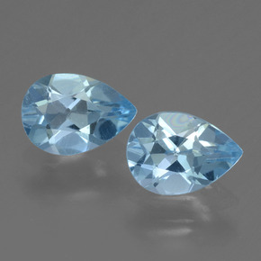 Sky Blue Topaz Gem - 0.8ct Pear Facet (ID: 455463)