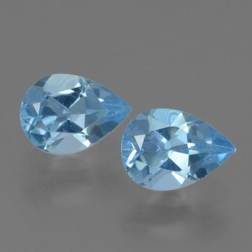 Sky Blue Topaz Gem - 0.8ct Pear Facet (ID: 455466)