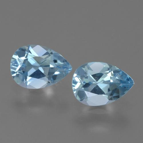 Sky Blue Topaz Gem - 0.9ct Pear Facet (ID: 455470)