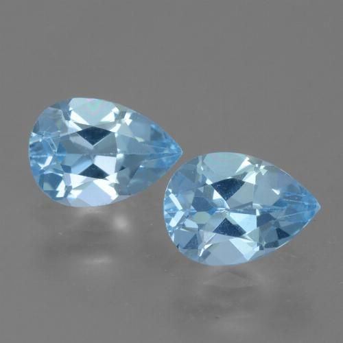 Light Blue Topaz Gem - 0.9ct Pear Facet (ID: 455472)